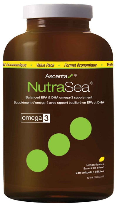 NutraSea Omega3 (Lemon) 240 Softgels