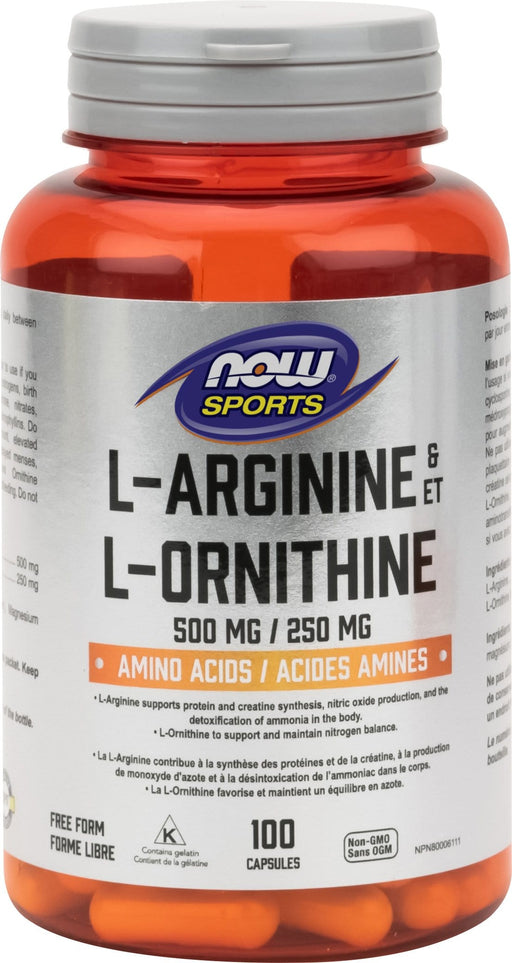 NOW L-Arginine 500 mg and Ornithine 250 mg
