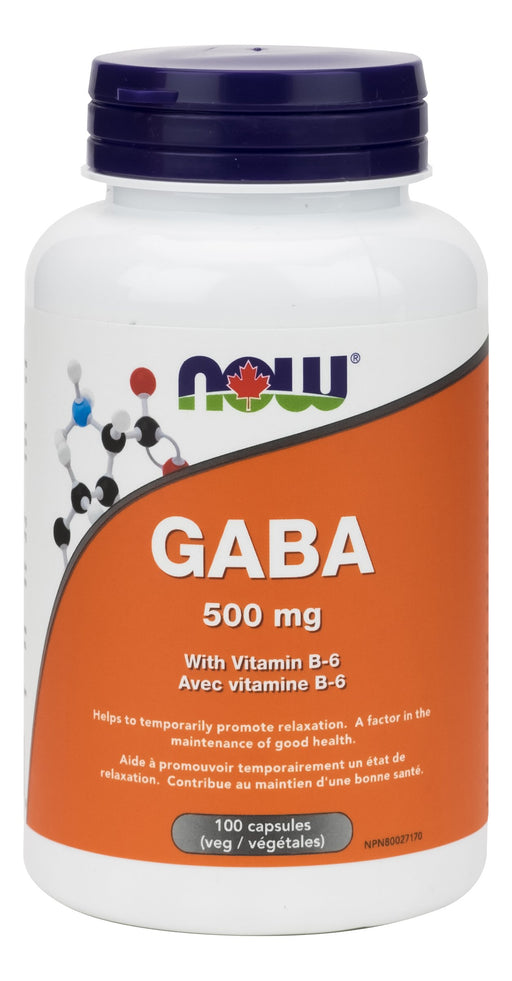 NOW GABA 500mg + B-6 100 V-Caps