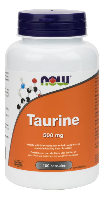 NOW Taurine 500 mg 100 Capsules