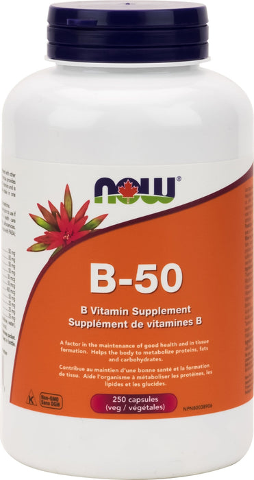 NOW Vitamin B-50 Complex 250 V-Caps