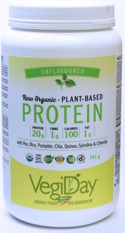 VegiDay Raw Organic Plant Based Protein Unflavoured