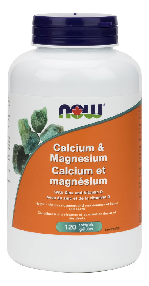 NOW Calcium Magnesium + D 120 Softgels