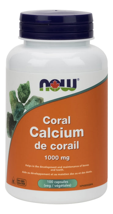 NOW Coral Calcium 1,000 mg 100 V-Caps