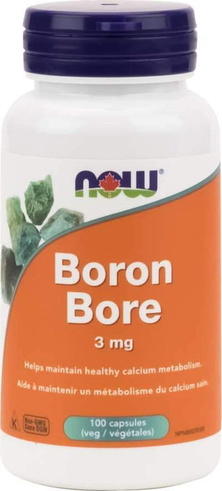 NOW Boron 3mg 100 Capsules
