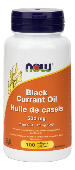 NOW Black Currant Oil 500 mg (70mg GLA) 100gel