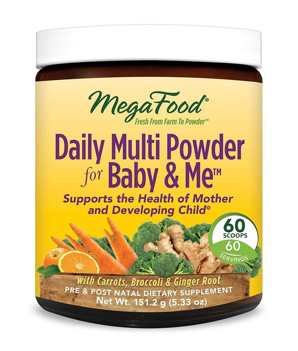 MegaFood Daily Multi Powder for Baby and Me 151.2 g (Short Dated)