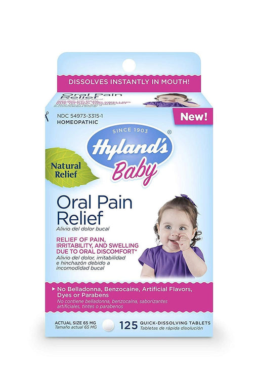 Hyland's Baby Oral Pain Relief Tablets 125 Tablets