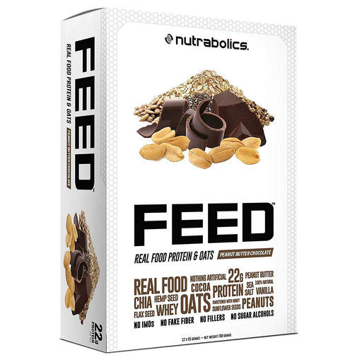 Nutrabolics FEED Real Food Protein & Oats Peanut Butter Chocolate 65 g Bar