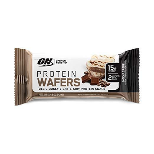 Optimum Nutrition Protein Wafers Mocha Creme 42g Wafers