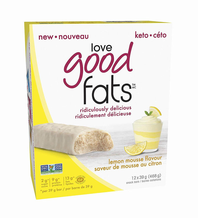 Love Good Fats Lemon Mousse Box of 12