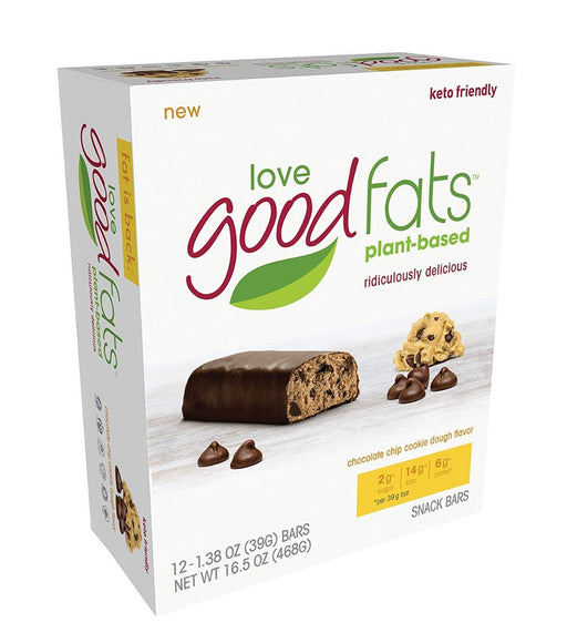 Love Good Fats Chocolate Chip Cookie Dough Bars Box Of 12