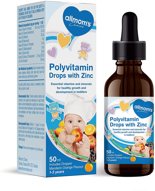 Allmom's Choice Polyvitamin Drops With Zinc For Children
