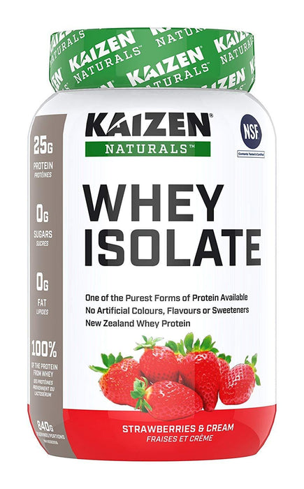 Kaizen Naturals Whey Isolate Strawberries & Cream 840 g