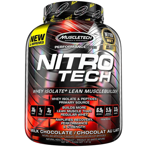 MuscleTech NitroTech Whey Isolate Milk Chocolate 4 lbs