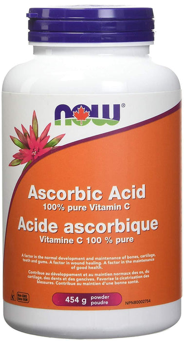 NOW Ascorbic Acid Powder (100% Pure Vitamin C) 454 g