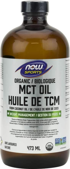 NOW Sports Organic Coconut MCT Oil 473 ML