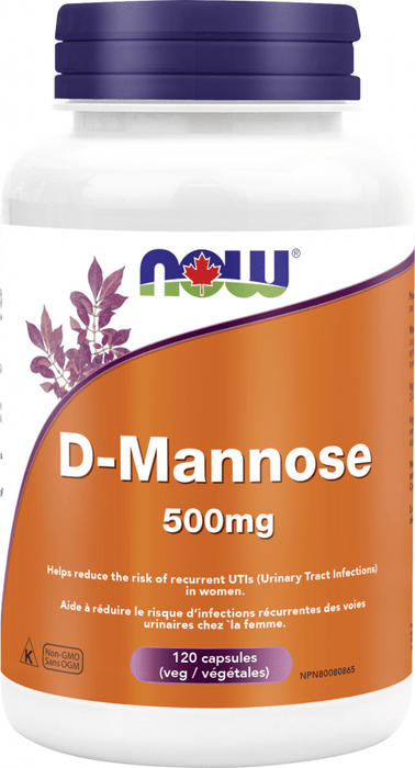 NOW D-Mannose 500 mg 120 V-Caps