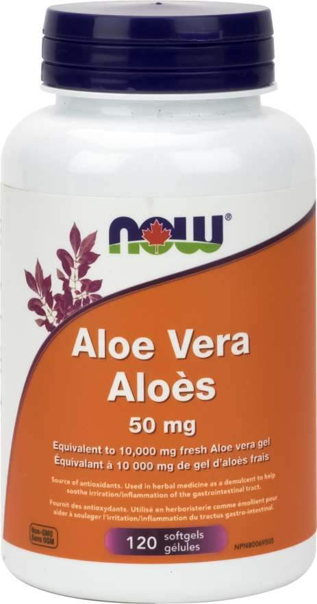 Now Aloe Vera Concentrate 50 mg 120 Softgels