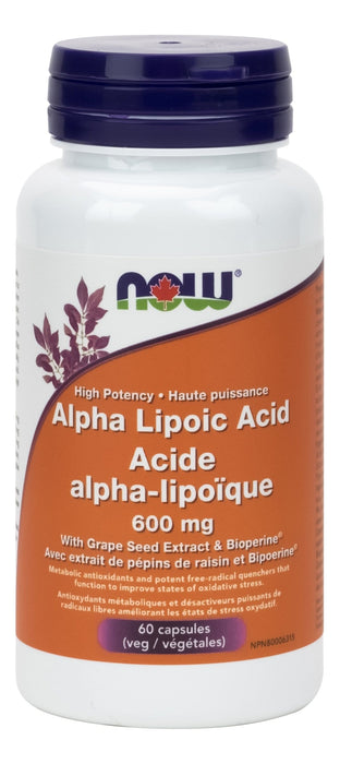 NOW Alpha Lipoic Acid 600mg 60 V-Caps