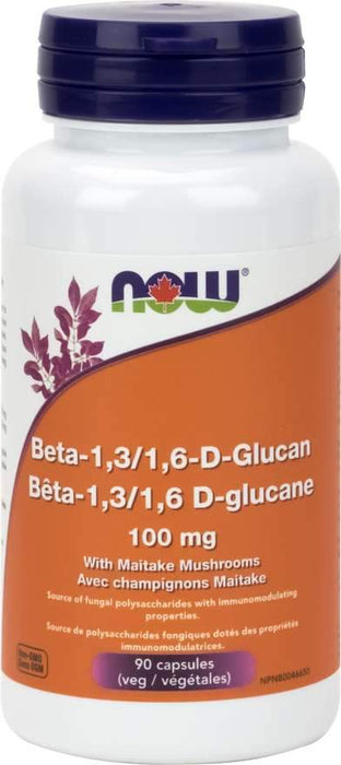 NOW Beta-1,3/1,6-D-Glucan 100 mg 90 Capsules