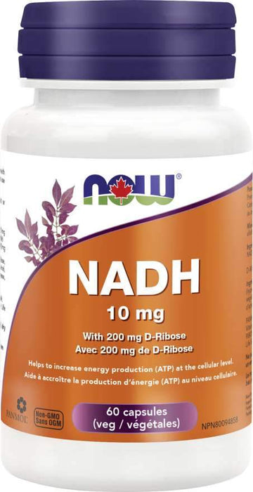 NOW NADH 10 mg 60 Capsules