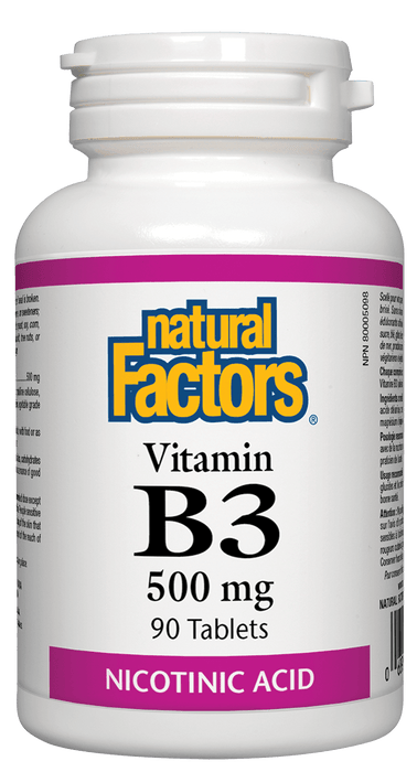 Natural Factors B3 Nicotinic Acid 500 mg 90 Tablets