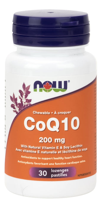 NOW CoQ10 200mg with Lecithin + Vitamin E Chewable