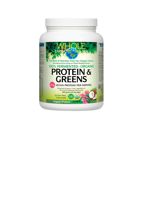 Whole Earth and Sea Fermented Organic Protein and Greens Organic Tropical