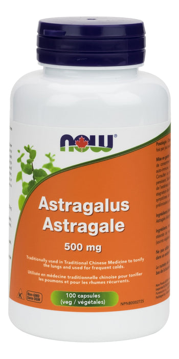 NOW Astragalus 500 mg 100 Veg-Caps