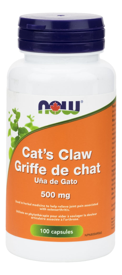 NOW Cats Claw 500 mg 100 V-Caps