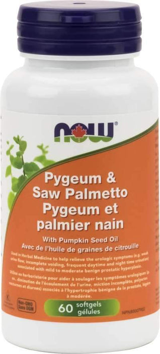NOW Pygeum & Saw Palmetto 25 mg / 80 mg 60 Softgels