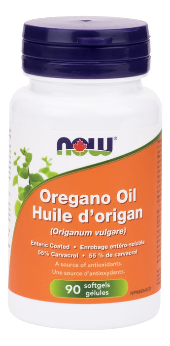 NOW Oregano Oil, Enteric Coated  90 Softgels