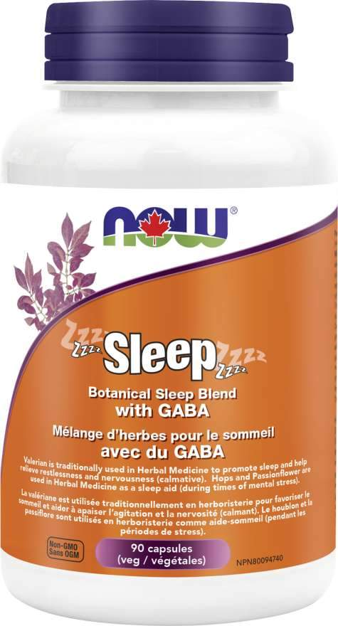 Now Sleep - Botanical Sleep Blend with GABA 90 Capsules