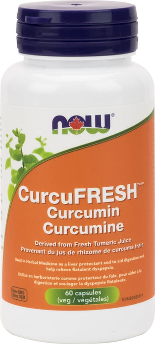 NOW CurcuFRESH Curcumin 60 Capsules