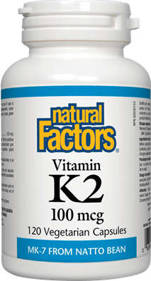 Natural Factors Vitamin K2, 100mcg