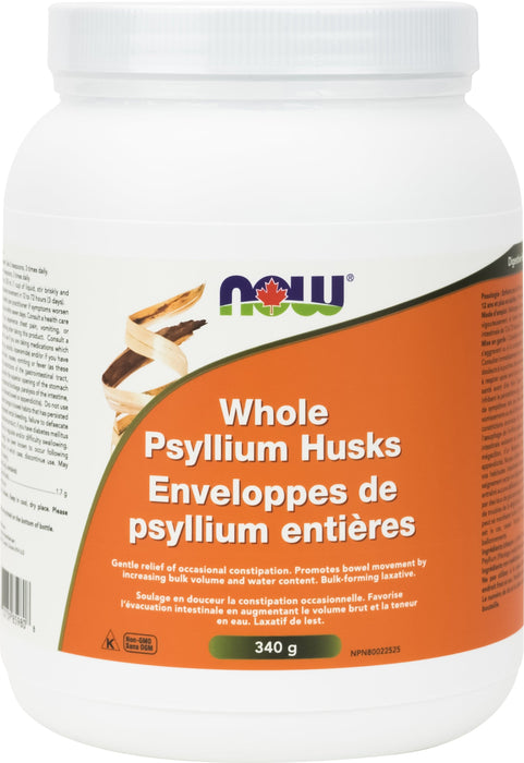 NOW Psyllium Husks Whole (bottle) 340 g