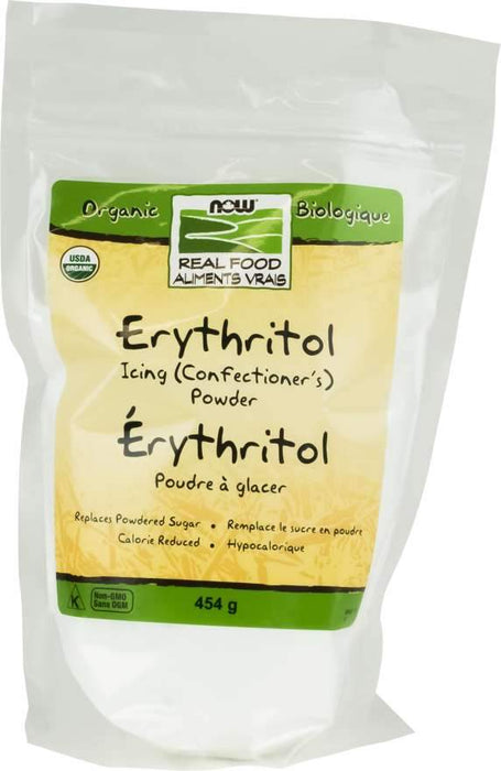 NOW Organic Erythritol Icing Powder 454 g
