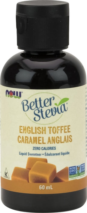 NOW Stevia Liquid Extract (English Toffee) 60mL