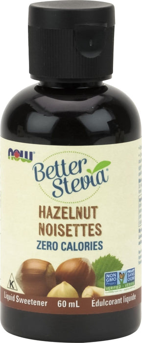 NOW Better Stevia Liquid Extract Hazelnut Cream