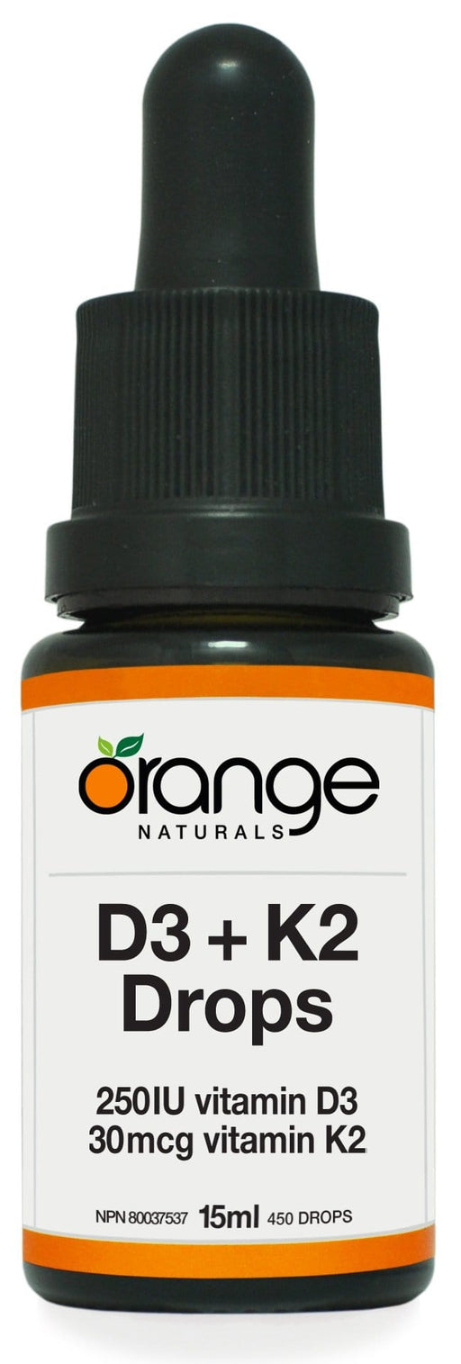 Orange Naturals D3+K2 Drops 250IU/30mcg orange MCT base