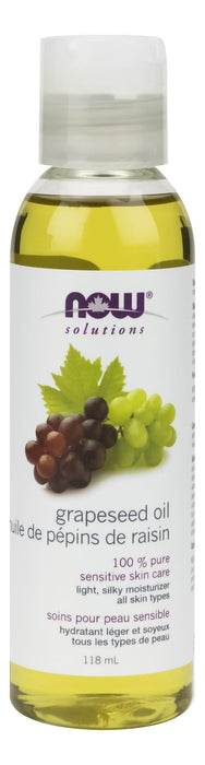NOW Grapeseed Oil, Pure 118 mL