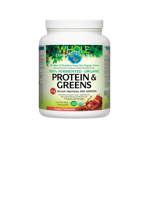Whole Earth and Sea Fermented Organic Protein and Greens Organic Chocolate