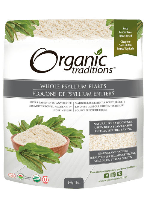 Organic Traditions Whole Psyllium Flakes 340 g
