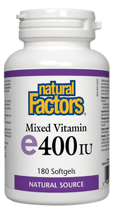 Natural Factors Mixed Vitamin E 400 IU, Natural Source 180 Softgels