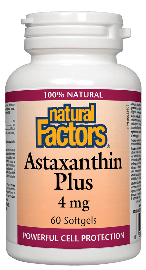 Natural Factors Astaxanthin Plus 4mg