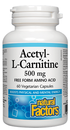 Natural Factors Acetyl-L-Carnitine 500 mg 60 Capsules