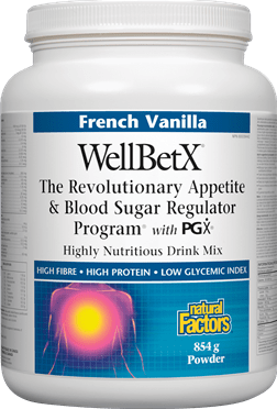 Natural Factors WellBetX Appetite & Blood Sugar Regulator Program with PGX - French Vanilla, 854g