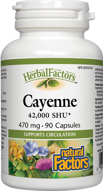 Natural Factors Cayenne 470mg 90 Capsules