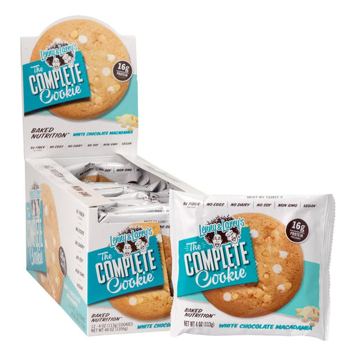 Lenny & Larry's The Complete Cookie White Chocolate Macadamia Box of 12 - 113 g Cookies